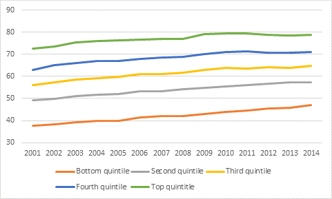 PSE by Income Quintile